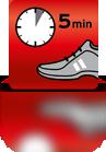 5 Minuten einwirken lassen (Sportschuh)